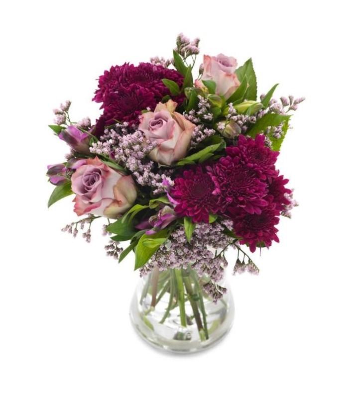 Buketten viol rosorna